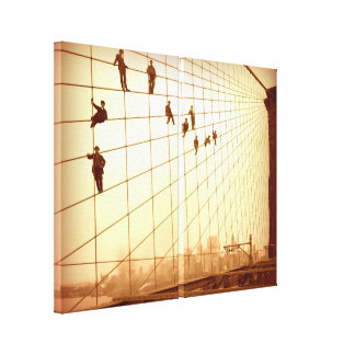 Hanging Out Brooklyn Bridge Cables Wall Art