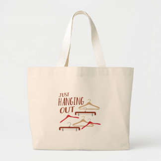 Hanging Out Large Tote Bag