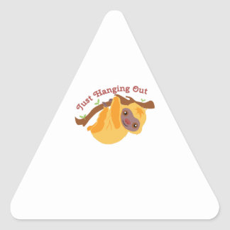 Hanging Out Triangle Sticker