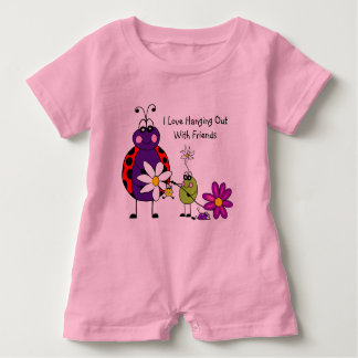 Hanging Out With Friends Baby Romper Baby Bodysuit
