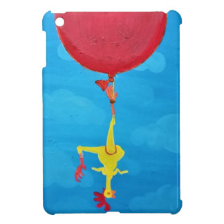 Hanging rubber chicken iPad mini cover
