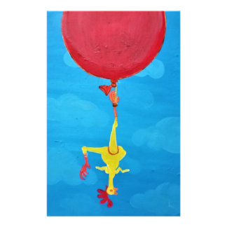 Hanging rubber chicken stationery
