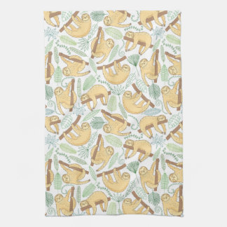 Hanging Sloths Tea Towel