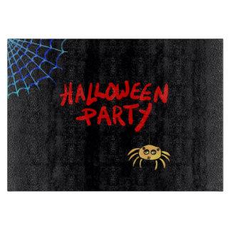 Hanging Spider Halloween Cutting Board