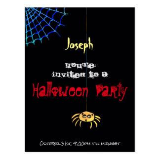 Hanging Spider Halloween - Joseph Postcard