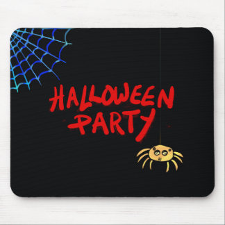 Hanging Spider Halloween Mouse Pad