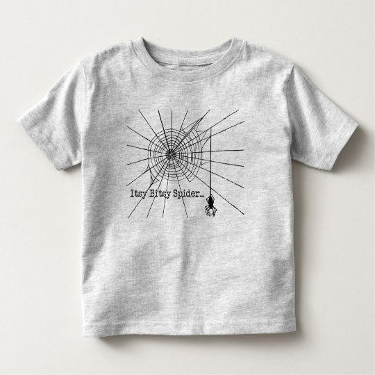 Hanging Spider in a web Gothic Halloween Toddler T-Shirt