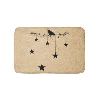 Hanging Stars and Crow Bath Mat