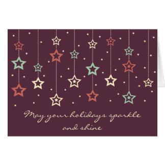 Hanging Stars Card (eggplant)
