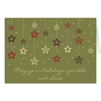 Hanging Stars Card olive