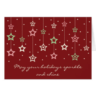 Hanging Stars Card (red)