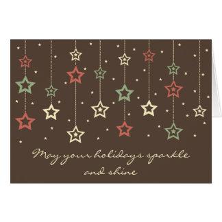 Hanging Stars Card (stone)