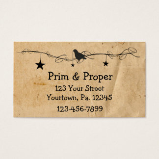 Hanging Stars & Crow Business Card