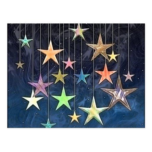 HANGING STARS POST CARD