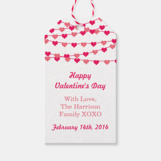 Hanging String Love Hearts Happy Valentine's Day