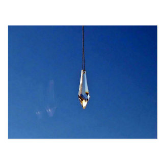 Hanging window crystal postcard
