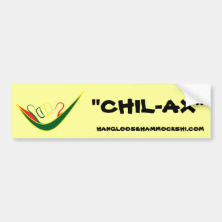 HANGLOOSE HAMMOCKS HAWAII- CHIL-AX- BUMPER STICKER