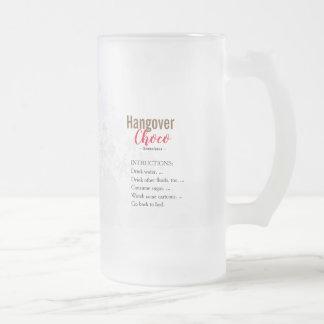 HANGOVER CHOCO matching cup santa joke