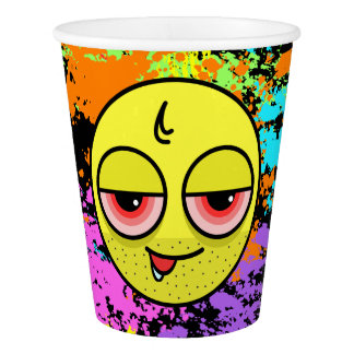 Hangover Face Paper Cup