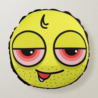 Hangover Face Round Cushion