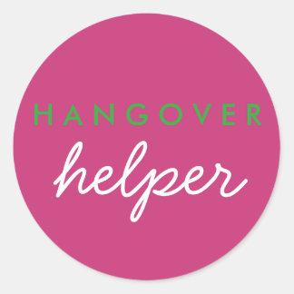 Hangover Helper Favor Sticker