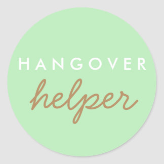 Hangover Helper Wedding Bachelorette Favor Sticker