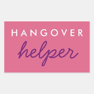 Hangover Helper Wedding Bachelorette Favour Rectangular Sticker
