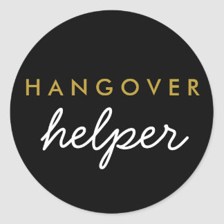 Hangover Helper Wedding Favor Sticker