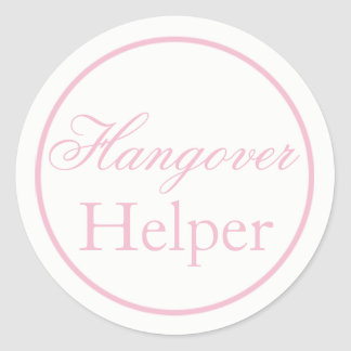 """Hangover Helper"" Wedding Sticker Blush Pink"