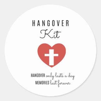 Hangover Kit Drinking Labels,  Favor Sticker Label