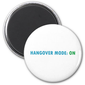 Hangover mode 6 cm round magnet