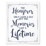 hangover party sign, vintage, wedding sign art photo
