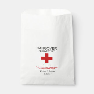 Hangover Recovery Kit Wedding Favor Bag