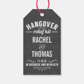 Hangover Relief Kit   Chalkboard Wedding Favor Gift Tags