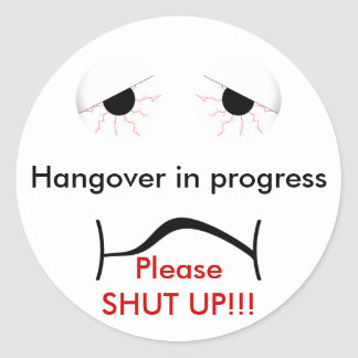 Hangover Sticker