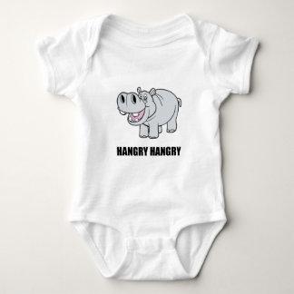 Hangry Hippo Baby Bodysuit