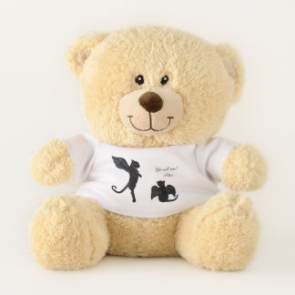 Hank and Sue the Black Winged Cats Teddy Bear