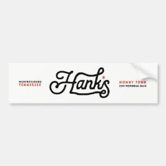 Hanks Signature Logo Black Sticker
