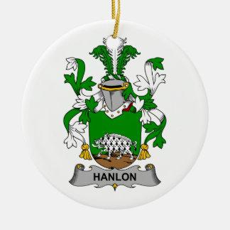 Hanlon Family Crest Ceramic Ornament