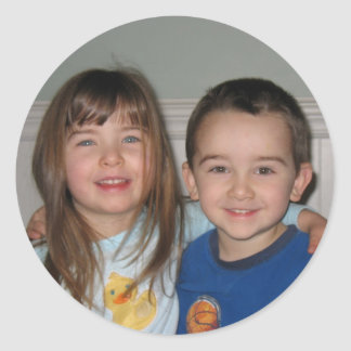 Hannah and Caleb (together) Classic Round Sticker