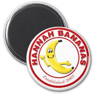 Hannah Bananas 6 Cm Round Magnet