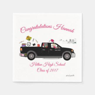 Hannah Custom Graduation philoSophie's Napkins Paper Serviettes