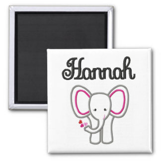 Hannah Elephant Magnet