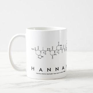 Hannah peptide name mug