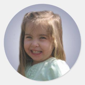 Hannah's face sticker
