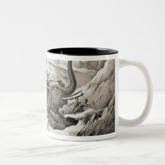 Hannibal (247-c.183 BC) and his war elephants cros Two-Tone Coffee Mug
