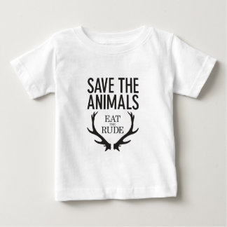 Hannibal Lecter - Eat the Rude (Save the Animals) Baby T-Shirt