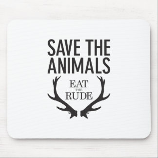 Hannibal Lecter - Eat the Rude (Save the Animals) Mouse Pad