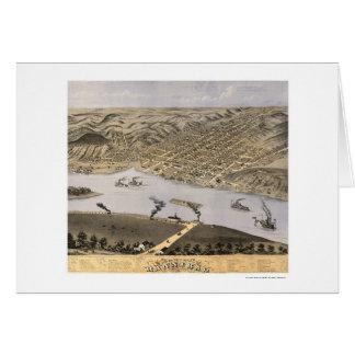 Hannibal, MO Panoramic Map - 1869 Card