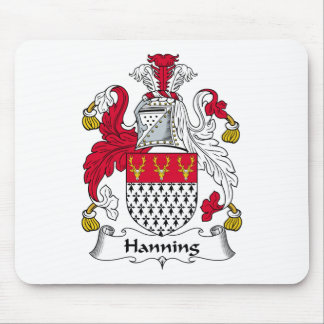 Hanning Family Crest Mouse Pad